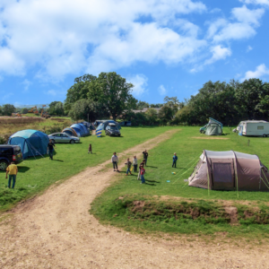 Camping in Devon at Diggerland