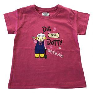Girls Dotty T-Shirt - Pink