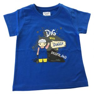 Boys Dig with Duggy T-Shirt– Royal Blue