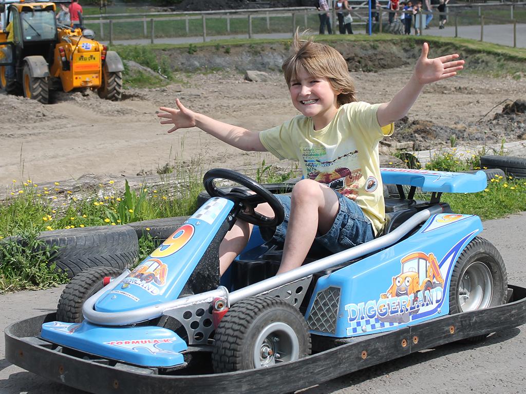 ||||Go Karts at Diggerland Kent UK Theme Park||||||
