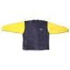 Zip up Fleece Jacket (Navy with Yellow Sleeves)