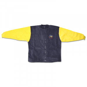 Zip up Fleece Jacket (Navy with Yellow Sleeves)