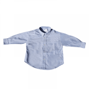 Long Sleeve Oxford Shirt Blue