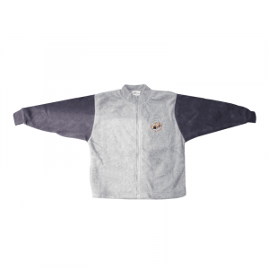 Zip up Fleece Jacket (Grey with Navy Sleeves)