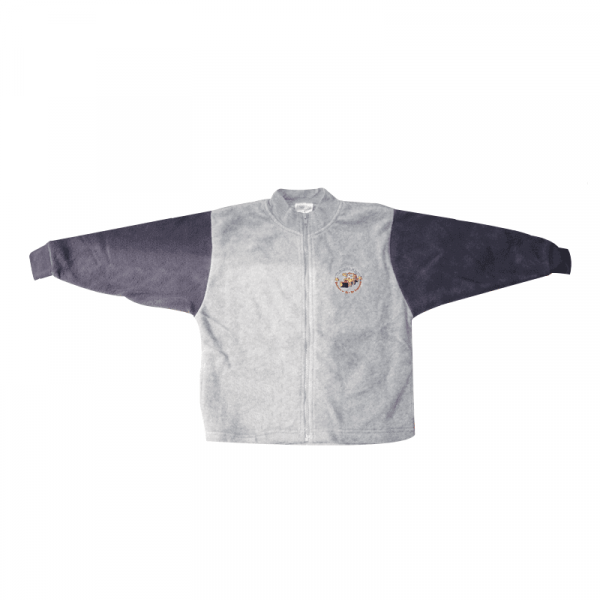 Zip up Fleece Jacket (Grey with Navy Sleeves)