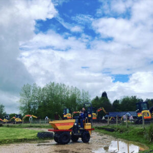 things to do outdoors - rainy days at Diggerland