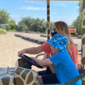 Mini Tractors at Diggerland Theme Park.